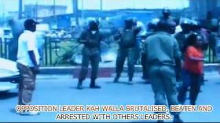 Cameroon Dictator and Monster  BIYA's Brutality on FEB 23 2011