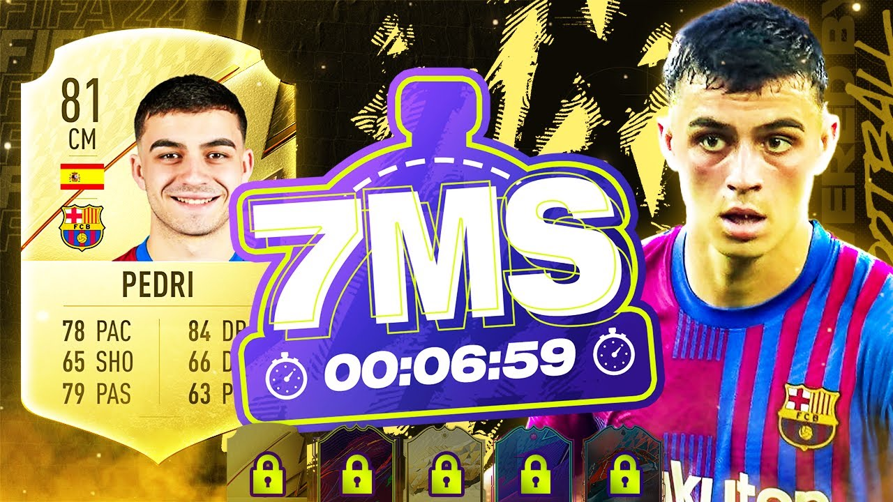 Download FIFA 22 - GOLDEN BOY PEDRI 7 MINUTE SQUAD BUILDER!! - ULTIMATE TEAM