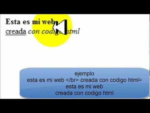 Crear Codigo Html 2: Saltos De Linea Y Letra En Negrita,cursiva Y Subrayado