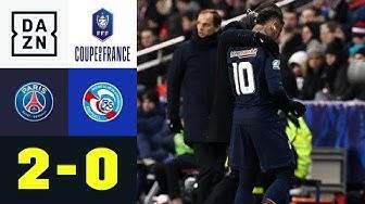 Schock für Thomas Tuchel - Neymar verletzt: PSG - Straßburg 2:0 | Coupe de France | DAZN Highlights
