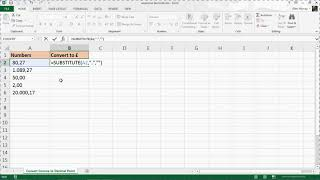 Repeat youtube video Convert Comma to Decimal Point in Excel