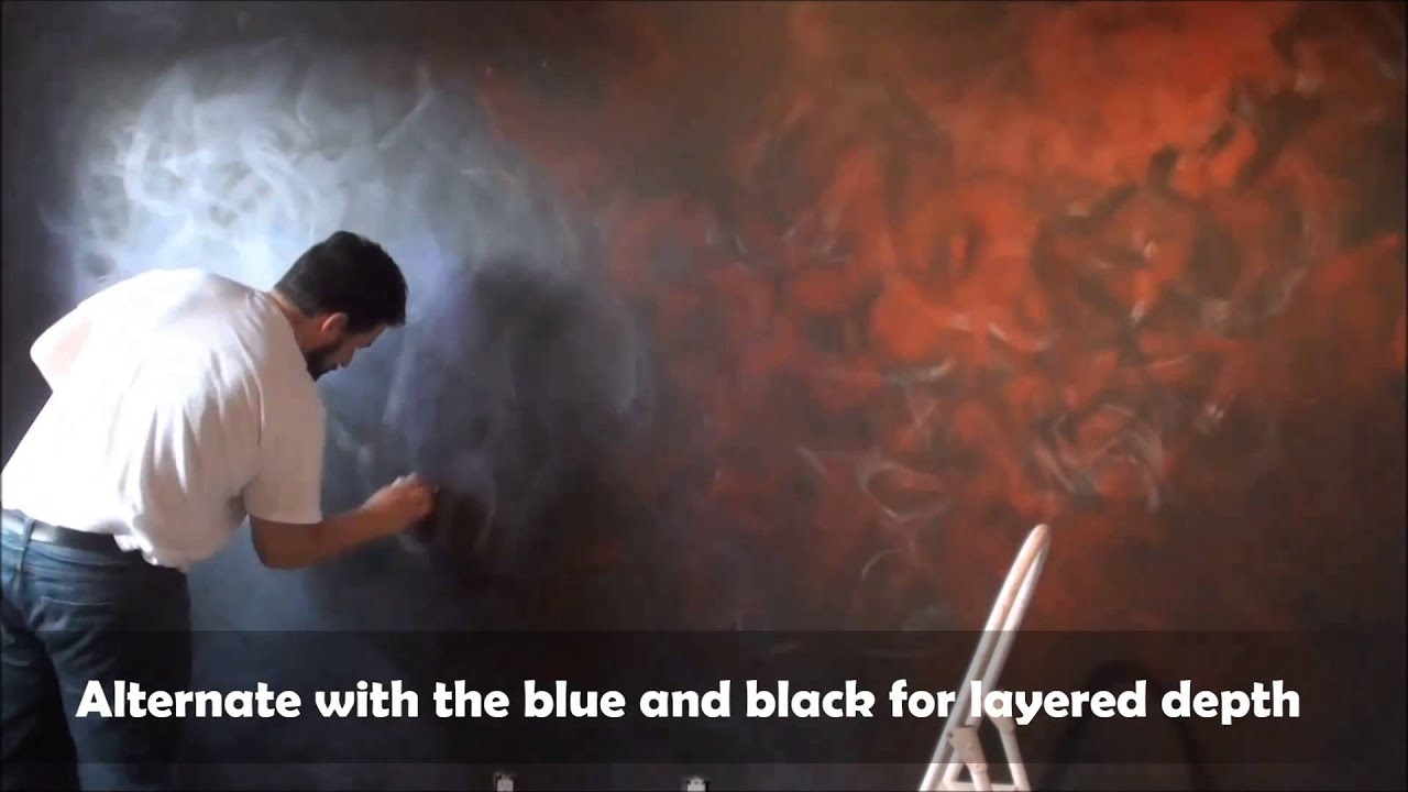 How to Paint a Space Nebula Galaxy Wall Mural for a Star ...