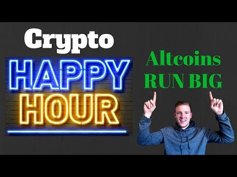 Crypto Happy Hour - Alts Go NUTS - XRP, ADA, TRON rocket to moon