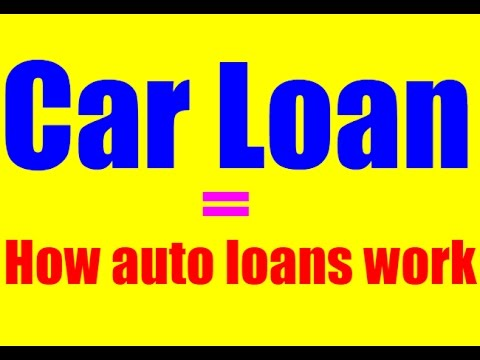 car loan how auto loans work findmortgages. Black Bedroom Furniture Sets. Home Design Ideas