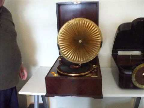"""The Squire "" Gives us a tour of Part of His Collection of Gramophones Etc"