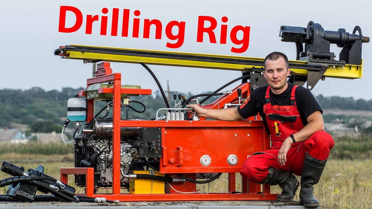 Portable hydraulic water well drilling rig | Burovik biz Water well