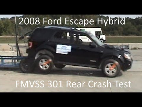 2008-2012 Ford Escape / Mercury Mariner Hybrid FMVSS 301 Rear Crash Test (50 Mph)