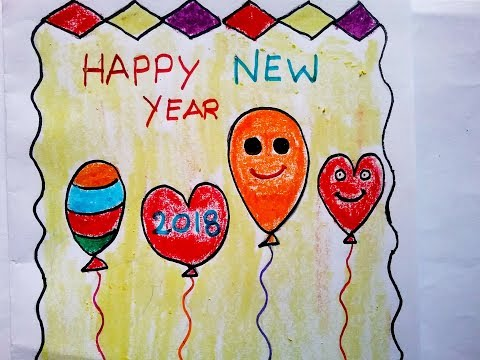 How To Make Happy New Year Card Diy Greeting Cards Making