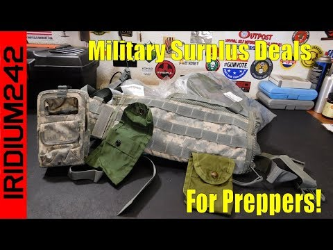 Prepper Deals From Military Surplus Stores!