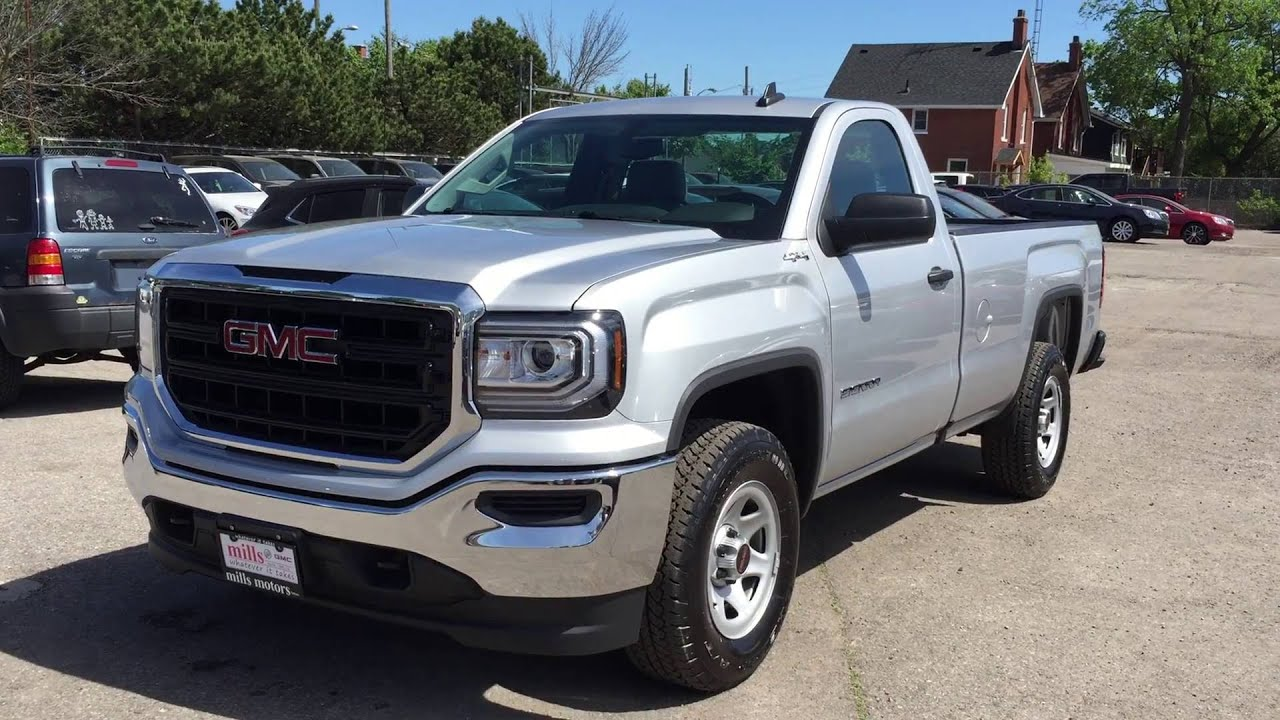 2016 Gmc Sierra 1500 Regular Cab 4wd Silver Oshawa On