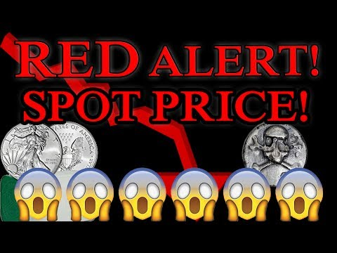 RED ALERT!!! Huge dip in the Silver & Gold Spot Price! FIre Sale!