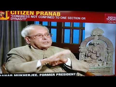 Pranab Mukherjee gives it back to Rajdeep Sardesai