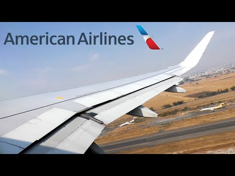 American Airlines Airbus A319 Takeoff From Guadalajara (GDL)