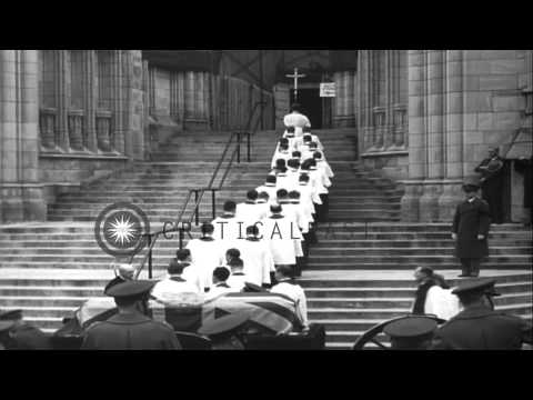 State Funeral of Philip Kerr, Lord Lothian, British Ambassador to the United Stat...HD Stock Footage