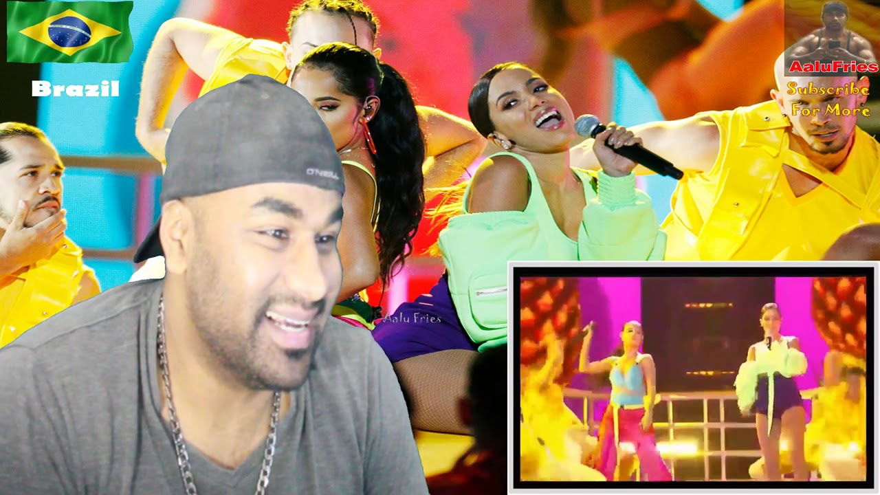 Anitta ft. Becky G - Billboard latin live BANANA | INDIAN REACTION