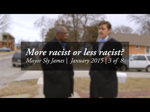 Our city today: More racist or less racist? -- Walk and talk with Mayor Sly James #3/8