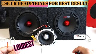 Pioneer TS-M650PRO 6.3/4 VS DS18 PRO-GM6B 6.5  midbass speakers test