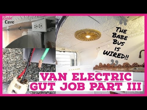 Van Conversion Electric GUT JOB is FINISHED!!