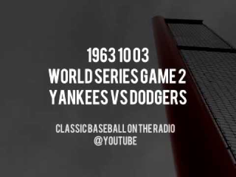 1963 10 03   World Series Game 2 Yankees vs Dodgers