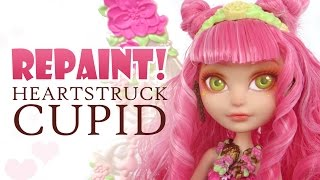 Repaint! Valentine Heartstruck Cupid Ever After High Custom Face Up