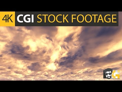 ( CGI 4k Stock Footage ) Dark sky white clouds apocalyptic clouds