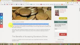 accepting donations online site 2016