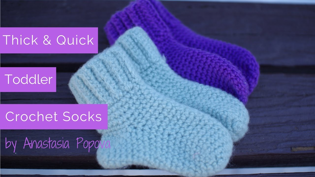 Thick quick toddler crochet socks by anastasia popova youtube thick quick toddler crochet socks by anastasia popova bankloansurffo Image collections