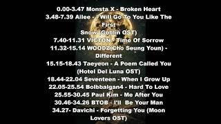 Sad Kpop - Korean Drama Songs Playlist (Monsta X, VICTON, WOODZ, Ailee, Kdrama OST etc...)