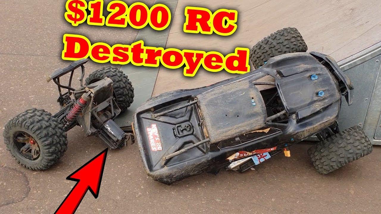 1200 Traxxas X Maxx Worst Wreck Ever Rc Car Crash