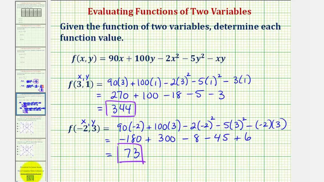 Evaluate Probability Function