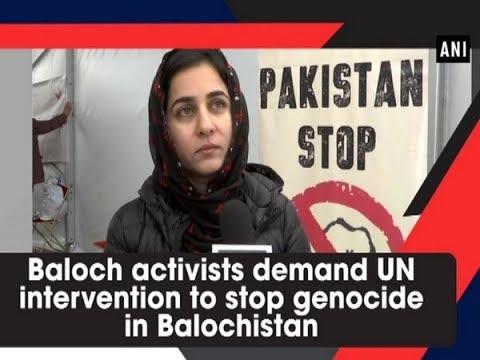 Baloch activists demand UN intervention to stop genocide in Balochistan