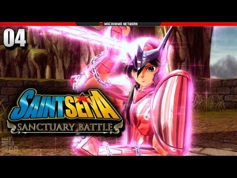 Cavaleiros do Zodíaco: Batalha do Santuário - PS3 - #04 - Shun VS Misty de Lagarto