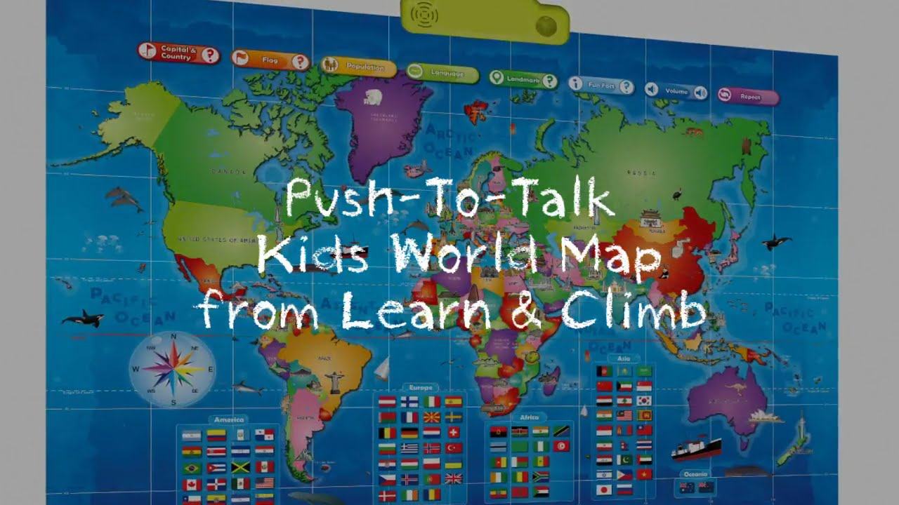 Push to talk kids world map from learn climb youtube push to talk kids world map from learn climb gumiabroncs Image collections
