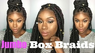 how to jumbo triangle box braids