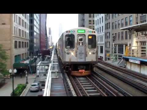Chicago 'L' The Loop CTA trains