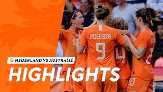 Highlights OranjeLeeuwinnen - Australië (1/6/2019)