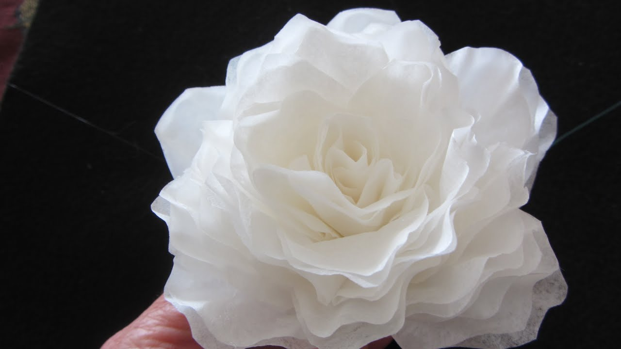 How to make this elegant coffee filter rose quick youtube mightylinksfo