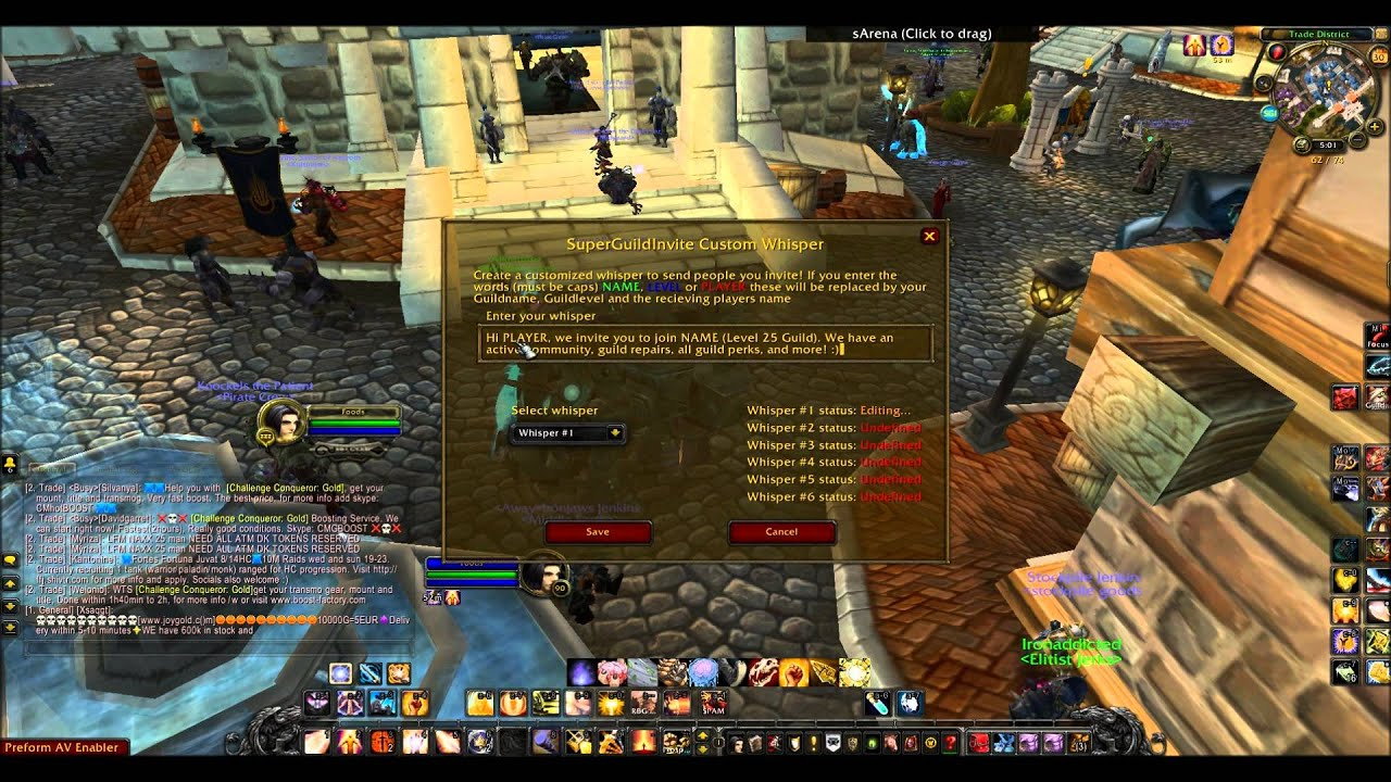 Make 50k Gold Levelling And Selling Guild With Addon Wow 5 4 Gold