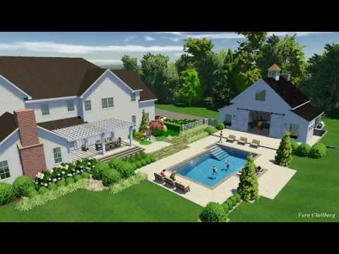 Sherborn MA Swiming Pool and Party Barn Design by Ivy Studio