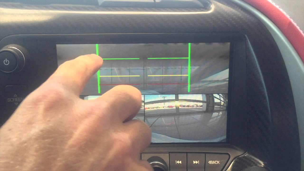 How To Use The Front Park Cameras On 2016 Corvette YouTube