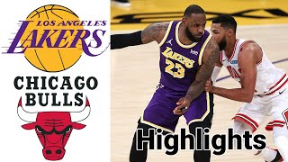 Lakers vs Bulls HIGHLIGHTS Full Game | NBA January 23
