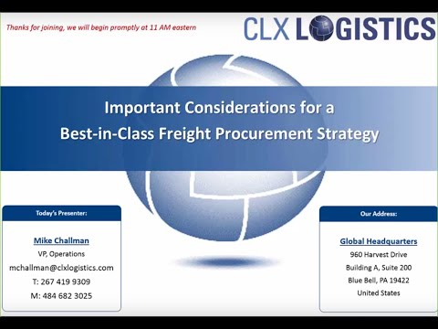 Best Practices for Freight Rate Procurement in Today's Market Webinar