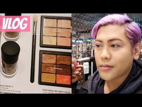 MAC COUNTER EXPERIENCE VLOG | STUDIO FIX FOUNDATION COLOUR MATCHING