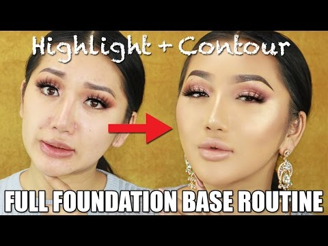 FLAWLESS FULL COVERAGE FOUNDATION ROUTINE FOR OILY SKIN || BAKING