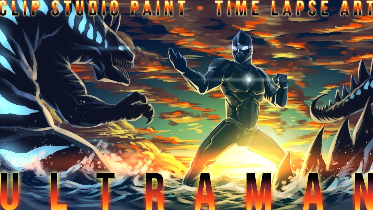 【Clip Studio Paint】 ULTRAMAN / ウルトラマン (Time Lapse Art