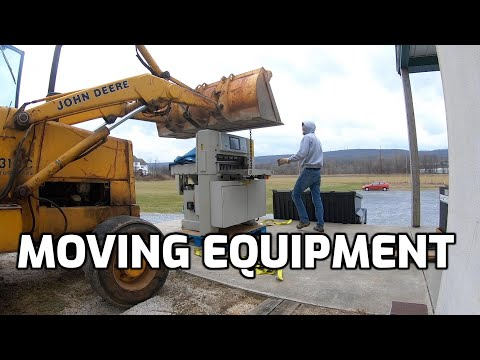 Moving and Installing 305 Challenge Paper Cutter, Rigging Equipment