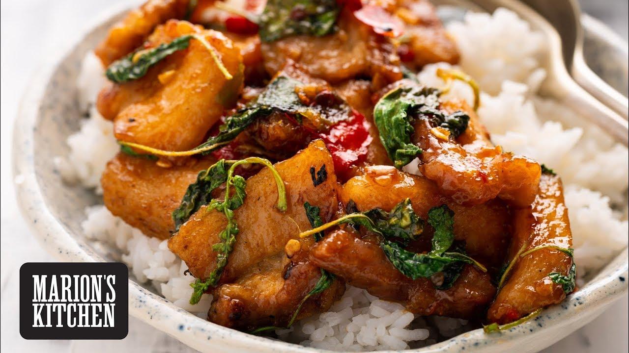 Thai Spicy Basil & Pork Belly Stir-fry