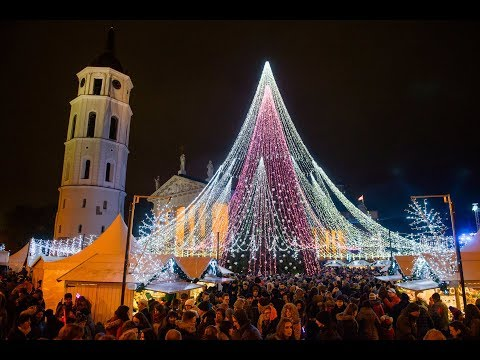 Lithuania. Vilnius. Christmas tree 2017/2018 (Most Beautiful Christmas Tree in Europe)