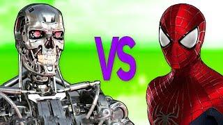ЧЕЛОВЕК ПАУК VS ТЕРМИНАТОР | СУПЕР РЭП БИТВА | Spiderman Movie фильм ПРОТИВ Terminator Game