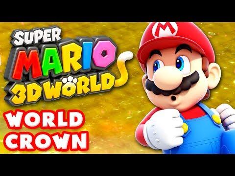Super Mario 3D World - World Crown 100% (Nintendo Wii U Gameplay Walkthrough)